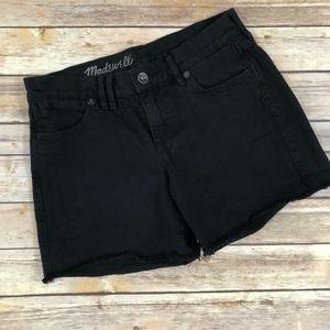 Madewell Black Denim Shorts